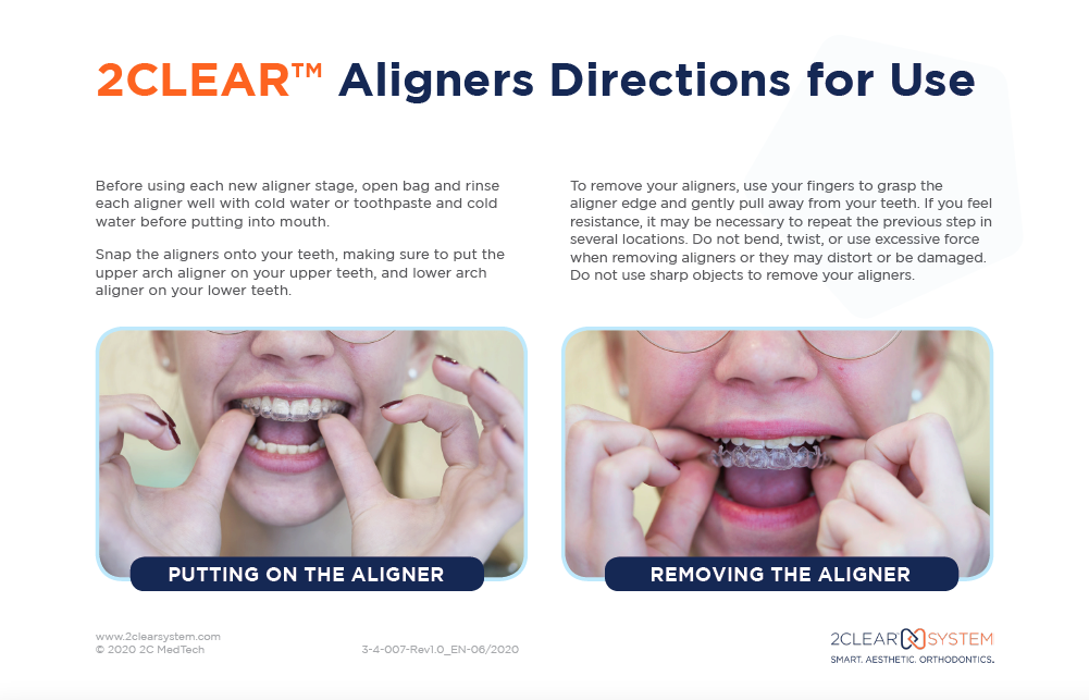 2CLEAR Aligners Directions for Use